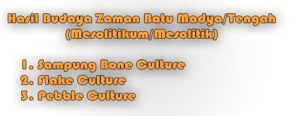 Hasil Budaya Zaman Batu Madya atau Tengah