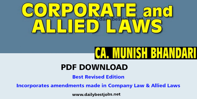 Download CA Final Law Notes CA Munish Bhandari PDF Nov May