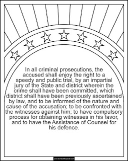 6th Amendment coloring page available in jpg and transparent png #Constitution #6thAmendment #Homeschooling