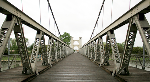 Waco Suspension Bridge Texas
