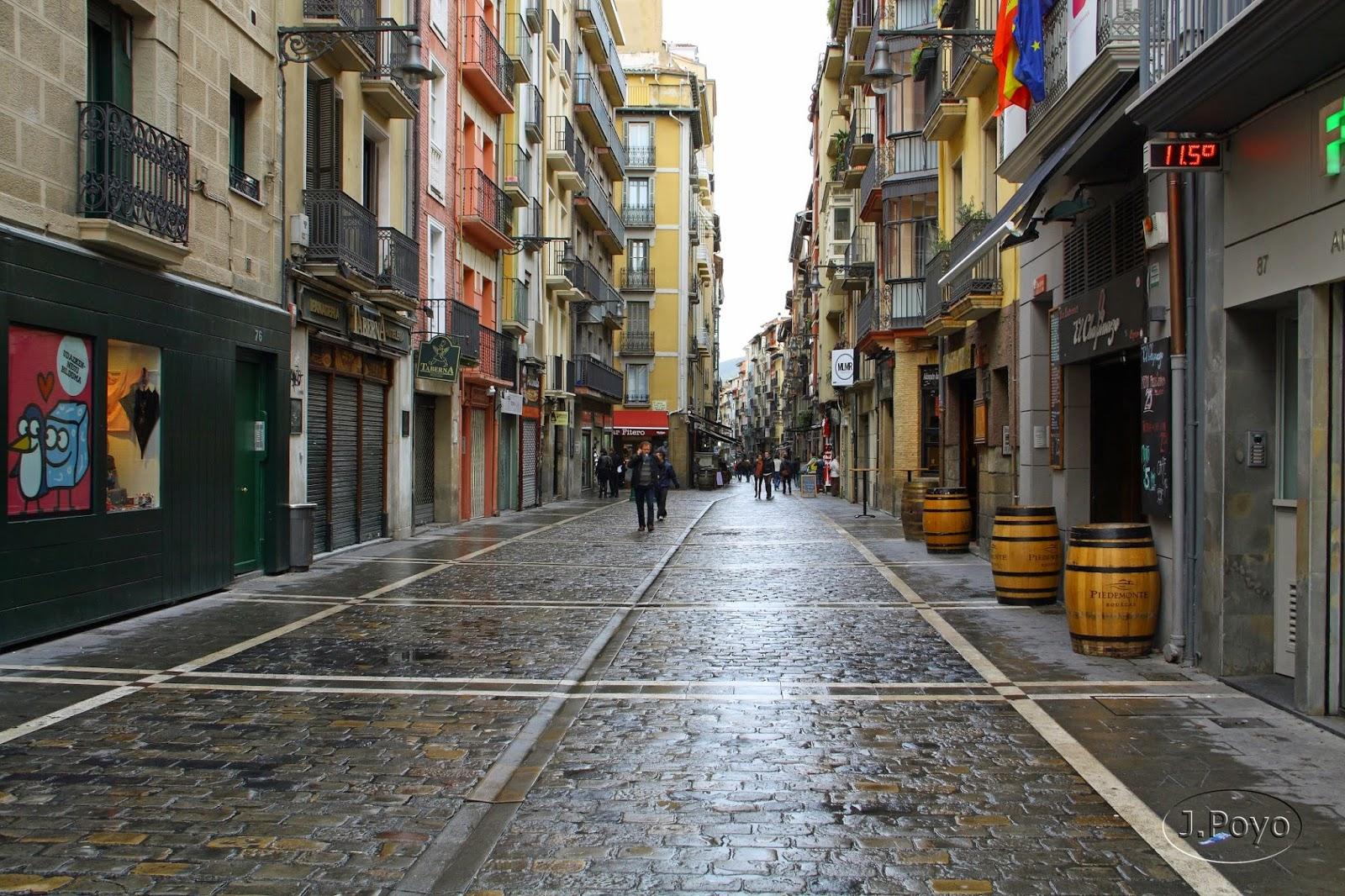 Calles del encierro de Pamplona
