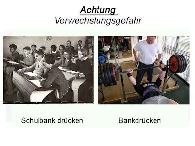 Verwechslungsgefahr schule Bodybuilding Bankdrücken