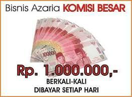 Modal Azaria 1,6 juta potensinya sekali closing 1 juta, ada juga lho modal gratis dapat 200 juta