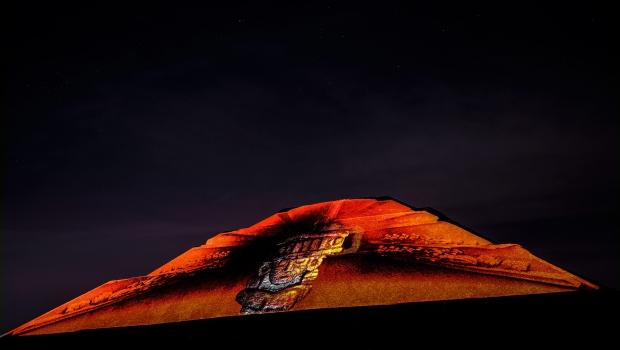 Inaugura pe a nieto espect culo de luz y sonido en for Espectaculo de luz y sonido en teotihuacan