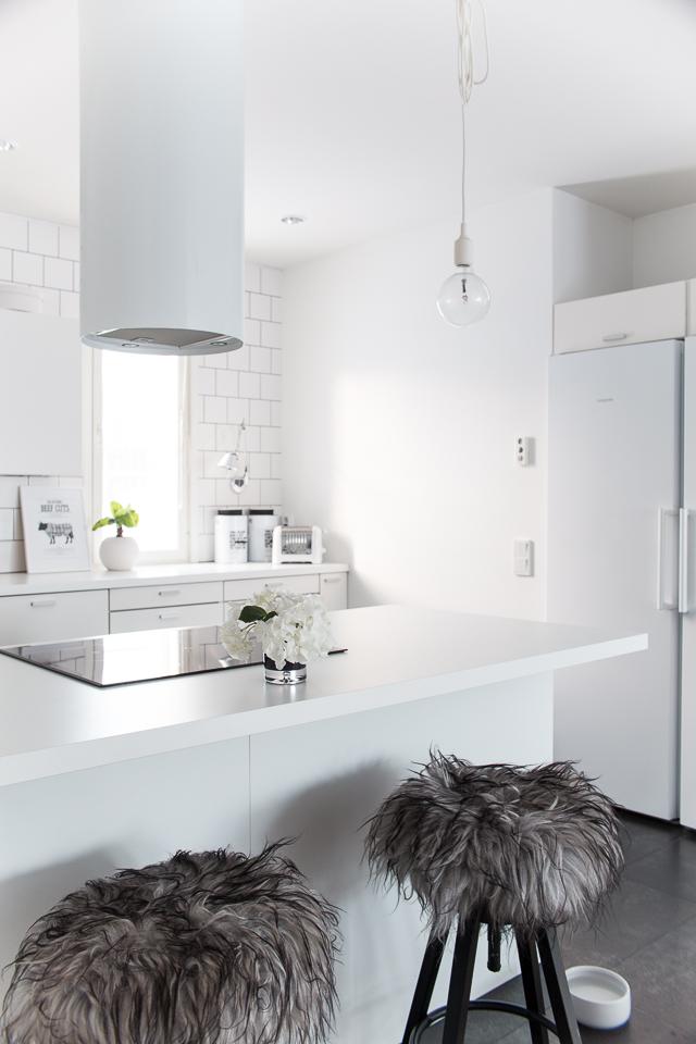 keittiö, taljat, Villa H, keittiön sisustus