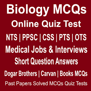 Solved Biology MCQs For Medical Jobs And Interviews Tests Online Quiz