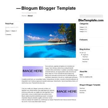 Blogum Blogger Template convert from wordpress theme to blogger. minimalist design blogger template. blogspot template 2 column