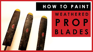 How to paint and weather propeller blades on scale model aircraft