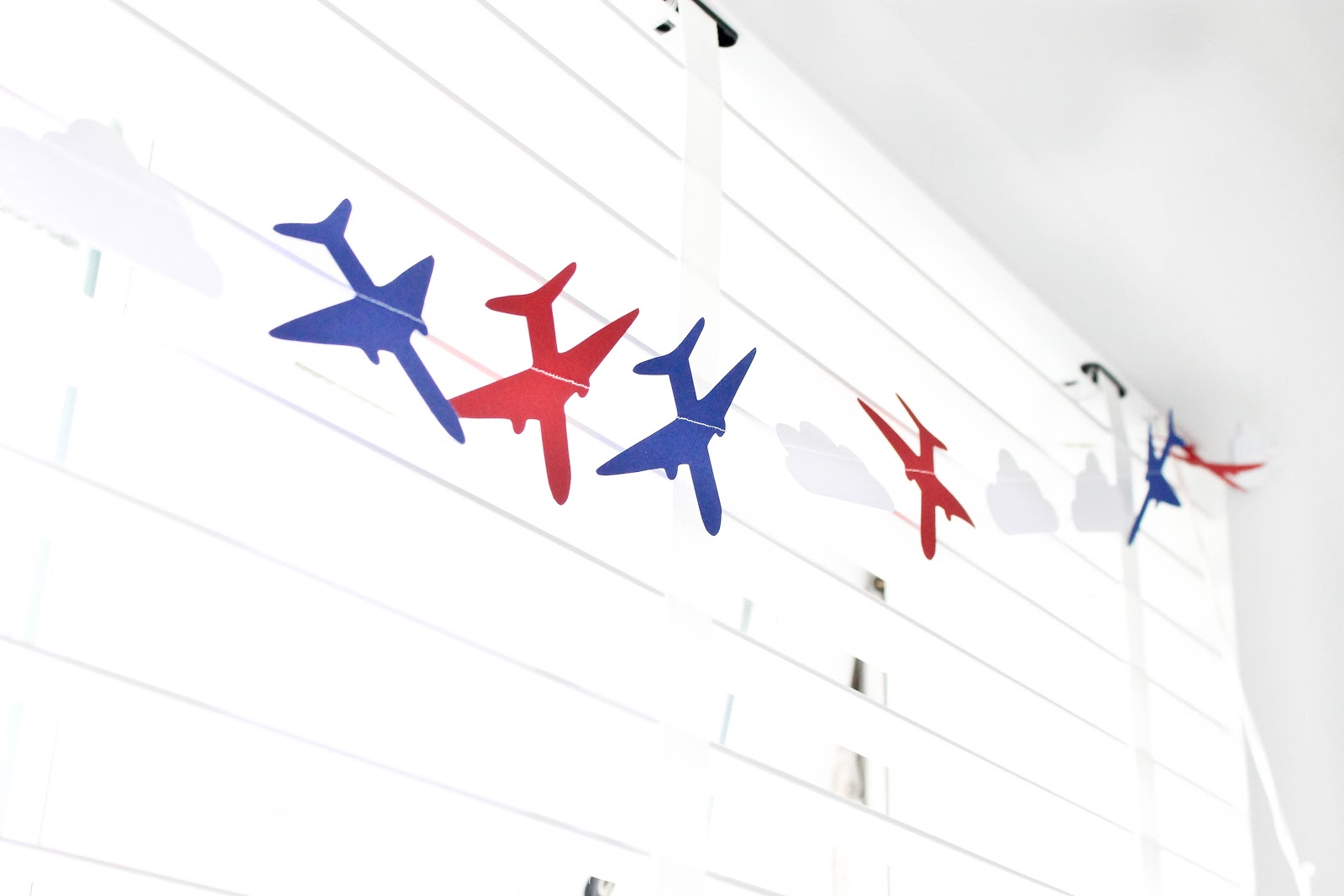 plane bunting, plane themed bedroom, plane bedroom, kids decor, modern kids decor, airplane kids room,