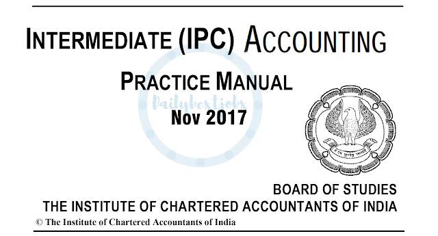 IPCC Accounting Practice Manual PDF Free Download
