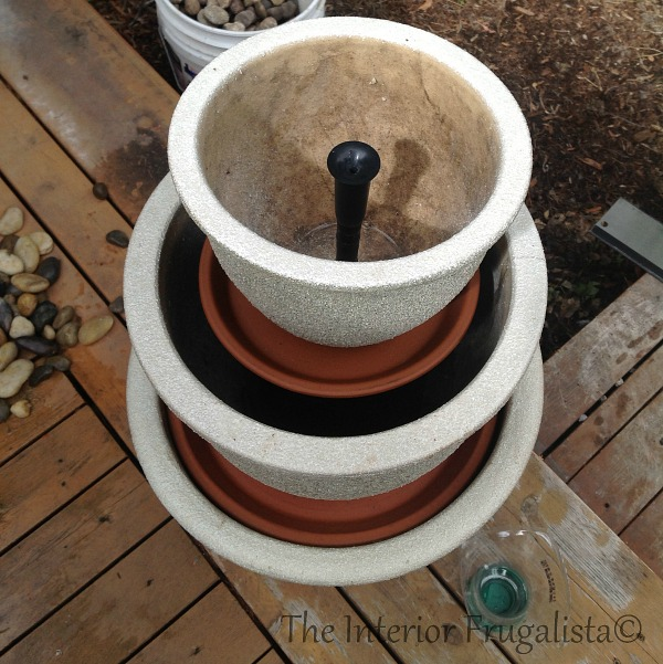 Step 8 How To Turn Plant Pots Into Water Fountain
