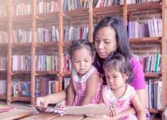 Mother reading--Language Development