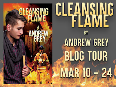 Guest Post: Andrew Grey, #Author of CLENSING FLAME, #giveaway #excerpt