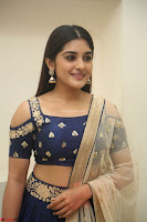Niveda Thomas in Lovely Blue Cold Shoulder Ghagra Choli Transparent Chunni ~  Exclusive Celebrities Galleries 056.JPG