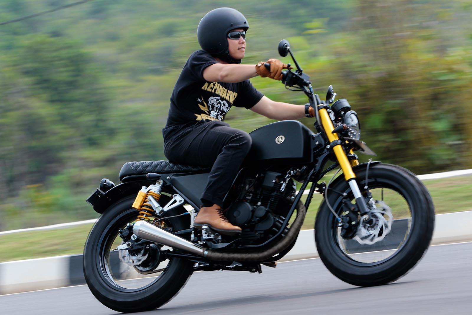 Inspirasi Modifikasi Yamaha Scorpio Custom Tracker Scrambler Japstyle