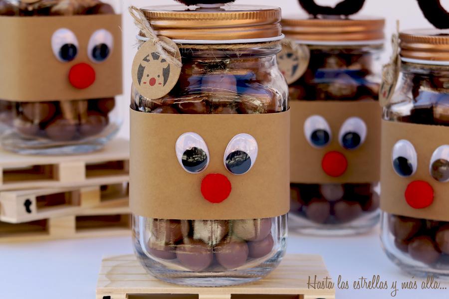 chocolate christmas reinder mason jar jarra reno navideño con chocolate