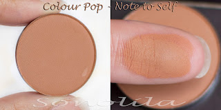 Note to self  - Pressed Eyeshadow Colour Pop