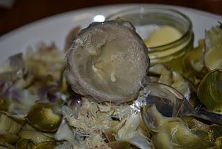 Globe artichoke heart