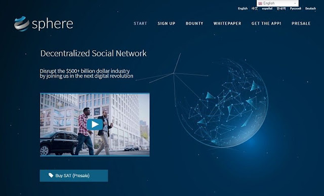 Program Giveaway ICO Terbaru : Gratis 100 Sphere (SAT) untuk Member Baru