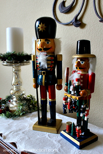 Treasured nutcrackers take center stage on the piano.