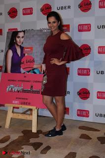 Indian Tennis Star Sania Mirza Pos in Red Short Dress at  0024.jpg