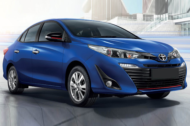 New 2018 Toyota Yaris Sedan HD Blue image