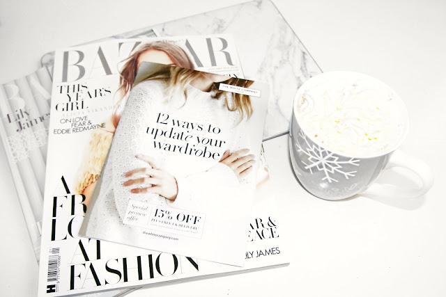 Katherine Penney Chic Blogger Magazine Hot Chocolate Pastel Mug Laptop Marble