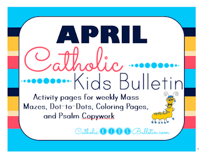April Catholic Kids Bulletins
