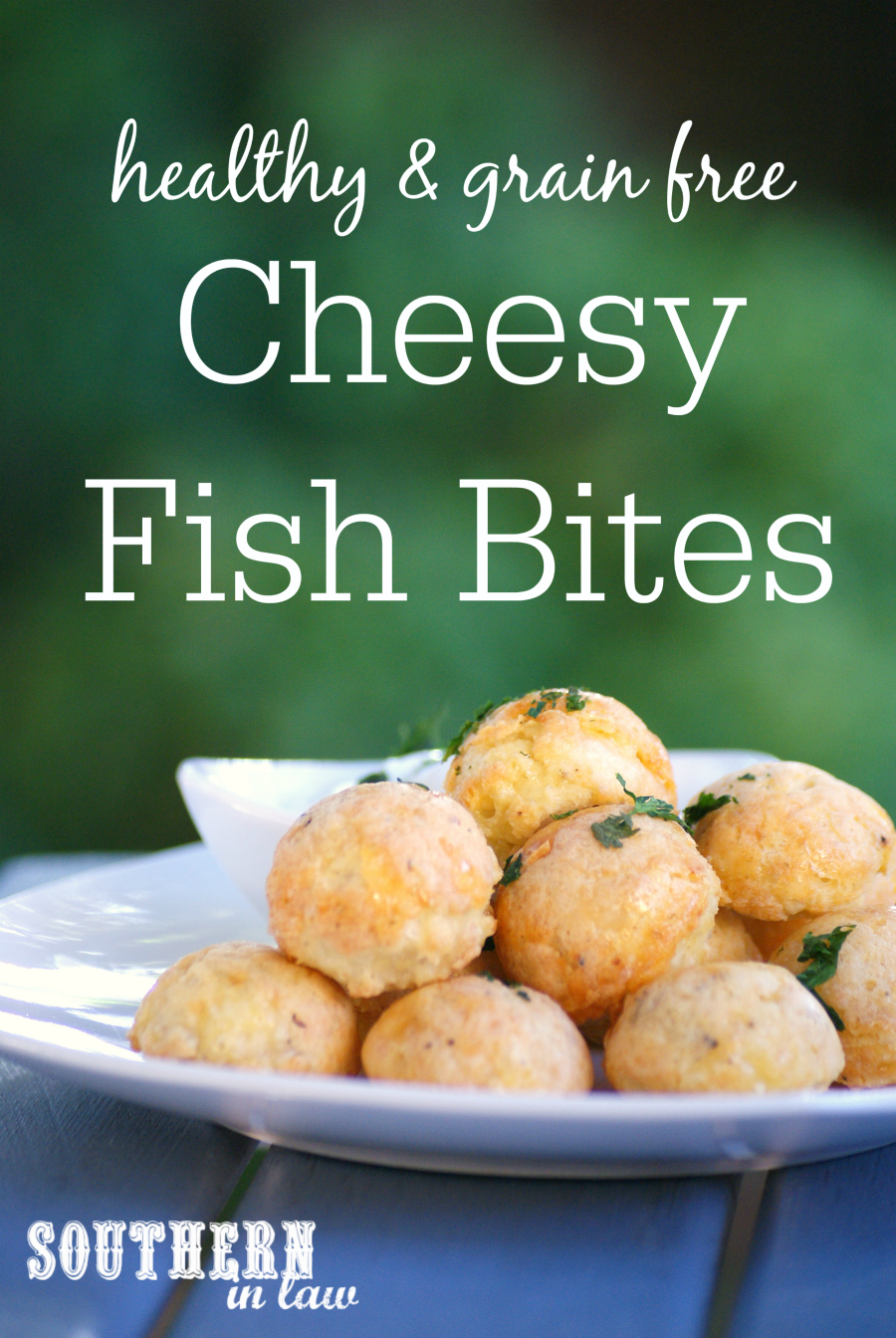 Southern in law recipe grain free cheesy fish bites for Low carb fish batter
