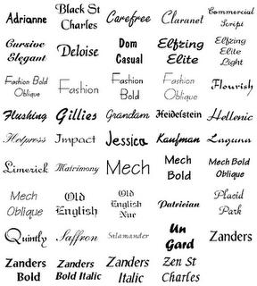 Tattoo Fonts Simple