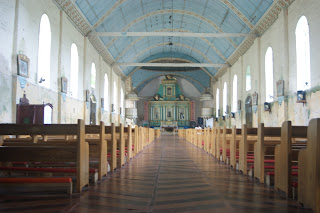 Lazi church wooden floors