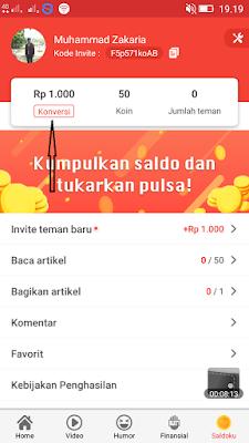 cara mendapatkan pulsa gratis dari aplikasi baca plus android