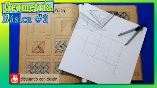 division de una recta, geometría , dibujo para principiantes, delein padilla dibujando con delein, clases gratis de dibujo