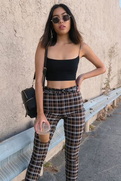 Cami Top in Black + Bottoms | 19 Perfect Fall Outfits You Will Want to Copy This Year