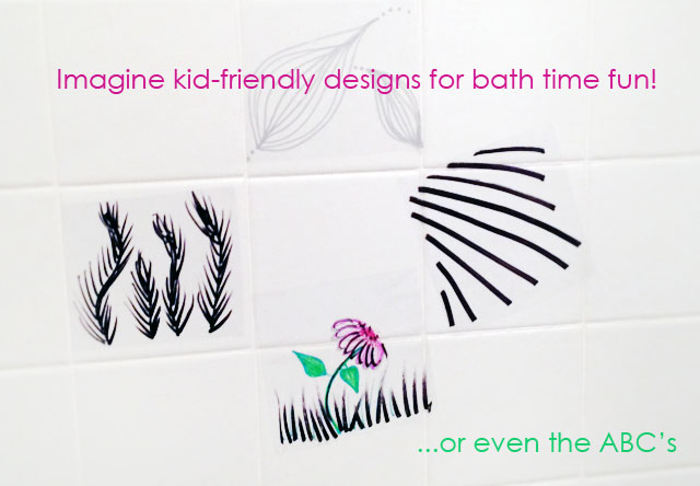 DIY Vinyl Wall Art for your Shower of Bath {Fun for Kids Too}