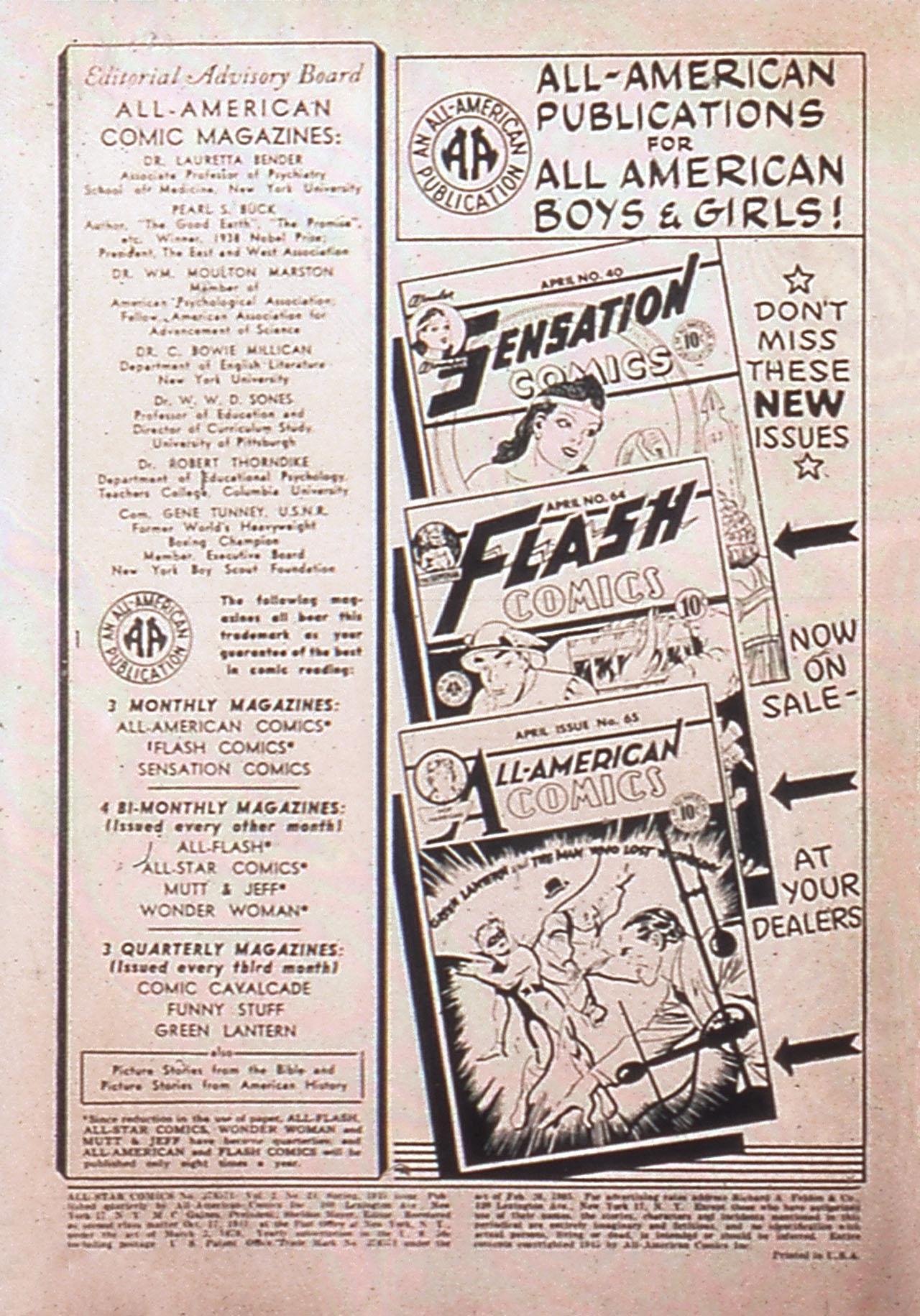 Read online All-Star Comics comic -  Issue #24 - 2