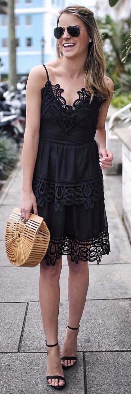 little black dress / summer look