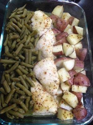 One Pan Dinner: Chicken, Potatoes & Greens