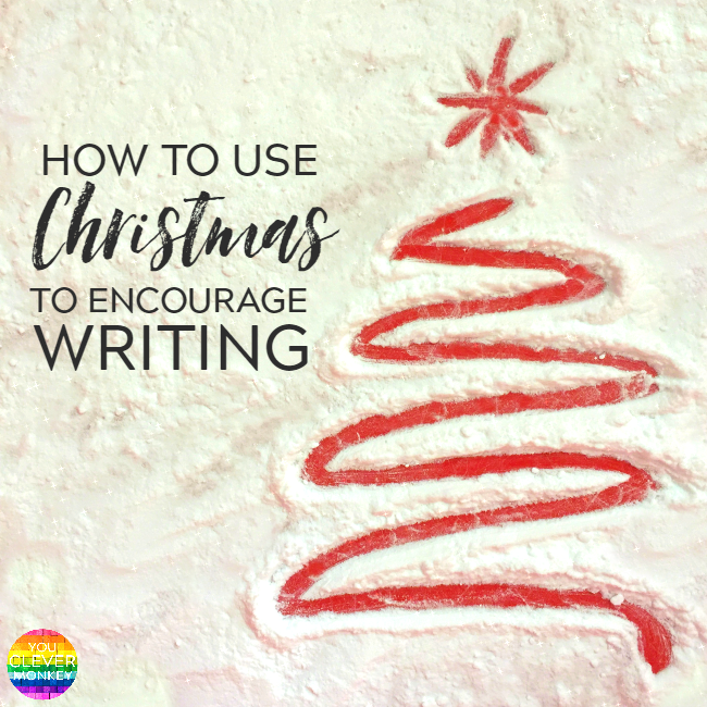 How to Use Christmas to Encourage Writing - why mark making is important to writing development along with 20 different ideas to encourage mark making at Christmas time to help young children develop their writing skills | you clever monkey