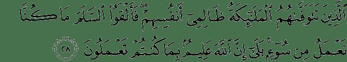 Surat An Nahl Ayat 28