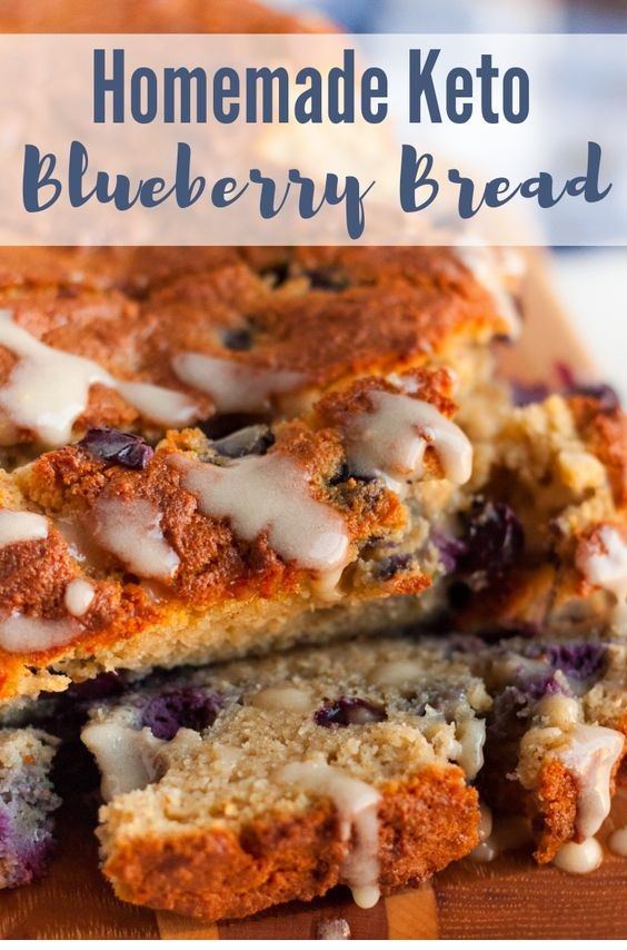 Homemade Keto Blueberry Bread