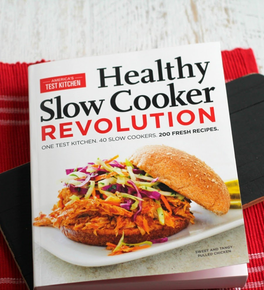 Enter to win a copy of American's Test Kitchen Healthy Slow Cooker Revolution Cookbook! Ends 1/26/15