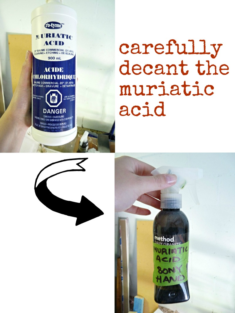 How to use muriatic acid to antique a mirror