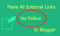 How To Automatically Add Nofollow To All External Links In Bloggers Blog