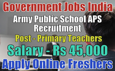 Army Public School APS Recruitment 2018