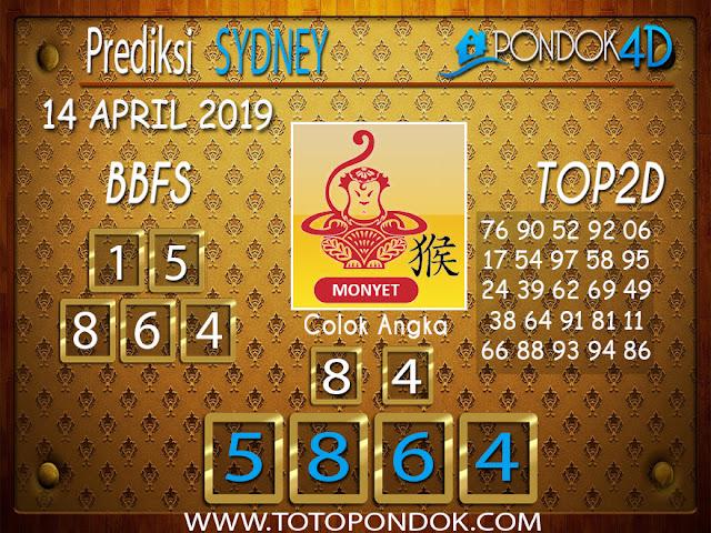 Prediksi Togel SYDNEY PONDOK4D 14 APRIL 2019