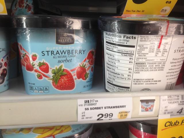 Strawberry Sorbet, Safeway Select - Safeway