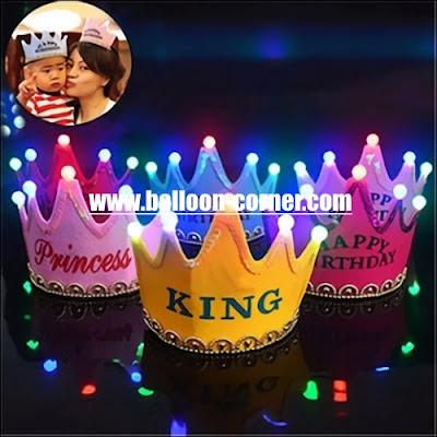 Mahkota LED Untuk Pesta Ulang Tahun Anak