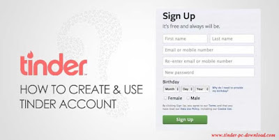 Tinder Sign Up using Facebook