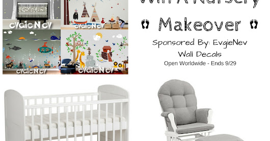 Evgie Wall Decal Nursery giveaway! OPEN WORLDWIDE (Ends 9/29) @evgie #WallDecals #baby